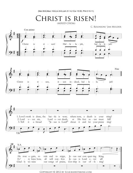 Christ Is Risen / Easter / Mixed Choir