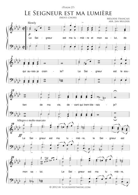 Le Seigneur Est Ma Lumiere / Men's Choir