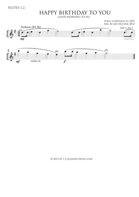Happy Birthday - Flute 1.2