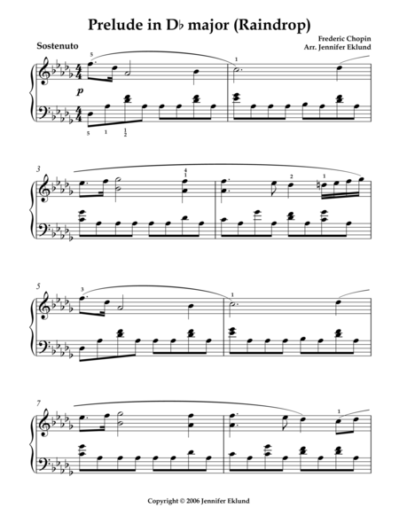 Raindrop Prelude (Arr. for Intermediates)