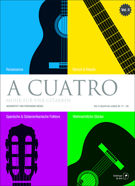 A cuatro - Musik fur 4 Gitarren Band 2 (leicht bis mittel) Nr. 11-20