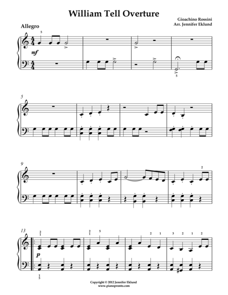 William Tell Overture Theme (Later Beginners)