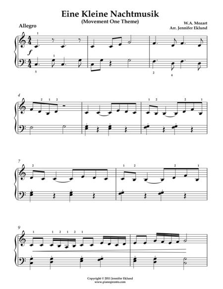 Eine Kleine Nachtmusik (Mvmts 1 & 2 for Late Beginners)