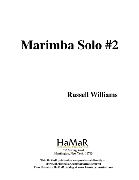 Marimba Solo #2