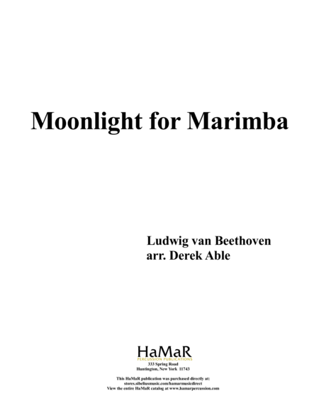 Moonlight for Marimba