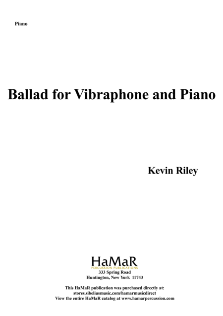 Ballad for Vibraphone & Piano