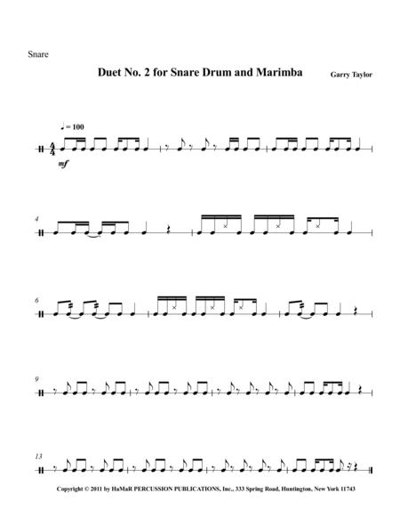 Duet No. 2 for Snare Drum & Marimba