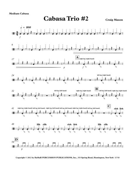 Cabasa Trio No. 2