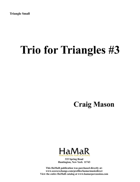 Triangles Trios #3