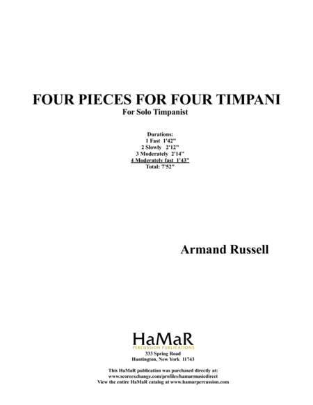 Four Pieces for Four Timpani