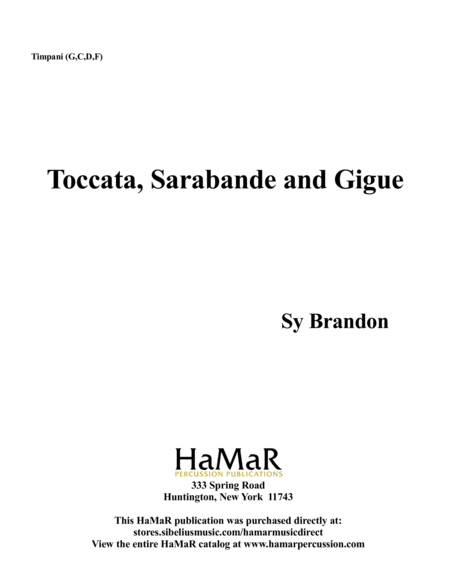 Toccata, Sarabande and Gigue