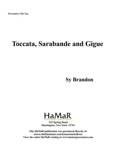 Toccata, Sarabande and Gigue