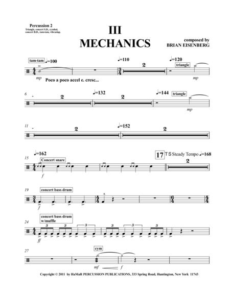 III Mechanics