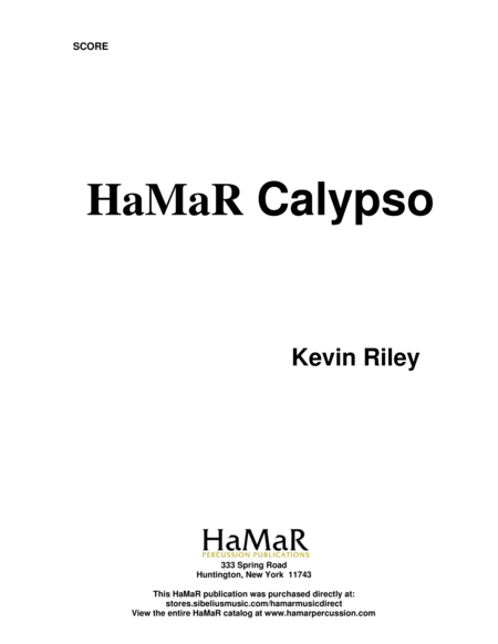 HaMaR Calypso