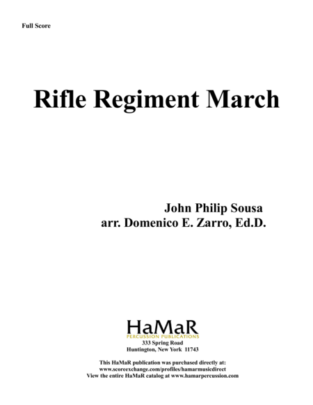 Rifle Regiment March