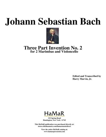 Three Part Invention No. 2 for 2 Marimbas & Cello