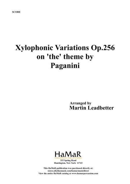Xylophone Variations