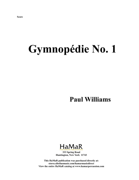 Gymnopedie No. 1