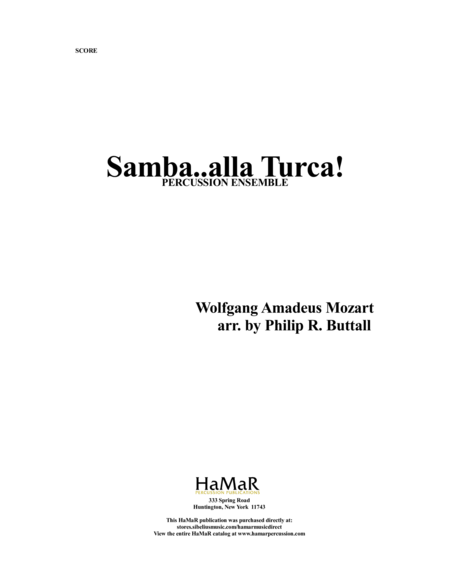Samba. . .alla Turca! For Percussion Ensemble