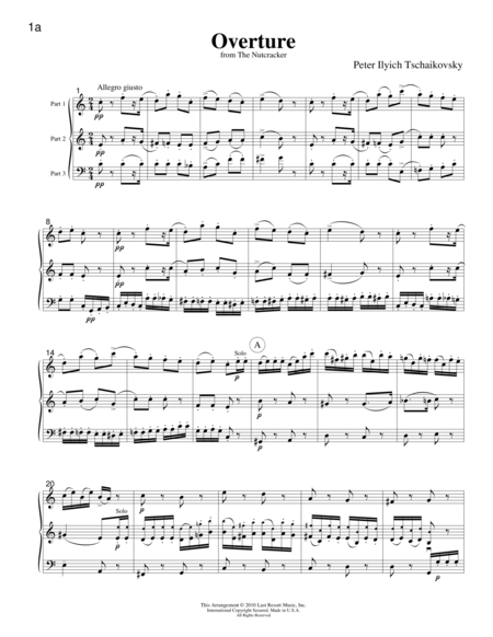 Music for Three, Christmas - Score
