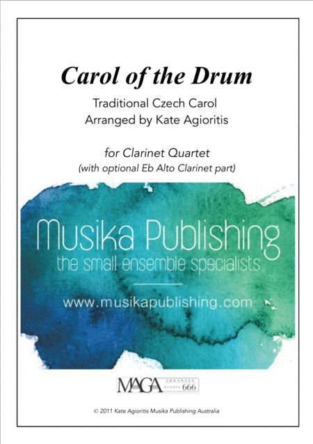 Carol of the Drum - for Clarinet Quartet