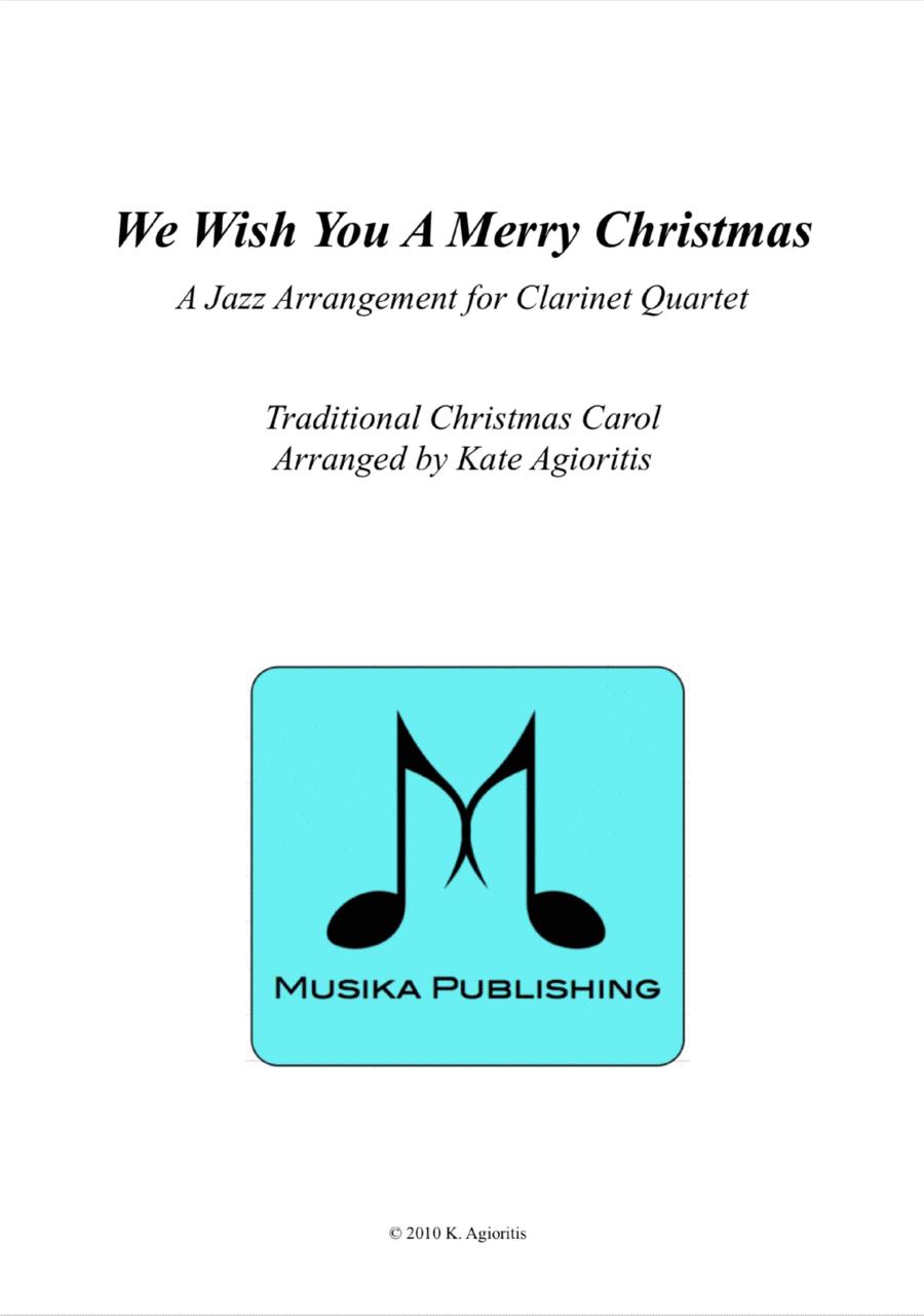 We Wish You A Merry Christmas - Jazz Carol for Clarinet Quartet