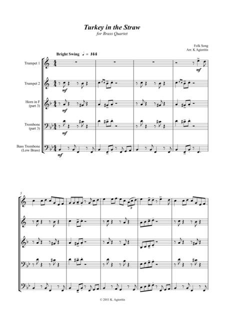 Turkey in the Straw - a Jazz Arrangement - for Brass Quartet