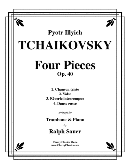 Four Pieces Op. 40 for Trombone and Piano