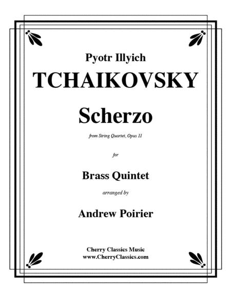 Scherzo for Brass Quintet from String Quartet, Opus 11