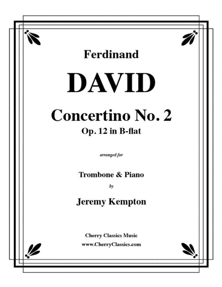 Concertino No. 2 in B-flat for Trombone and Piano