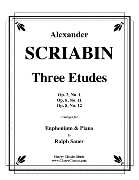 Three Etudes for Euphonium and Piano