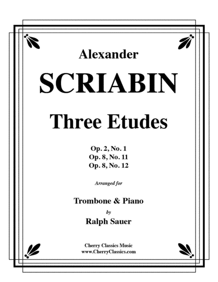 Three Etudes for Trombone and Piano