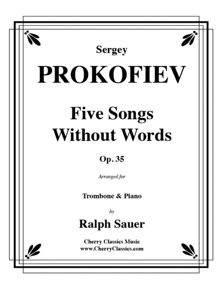 Five Songs Without Words for Trombone & Piano, Op. 35