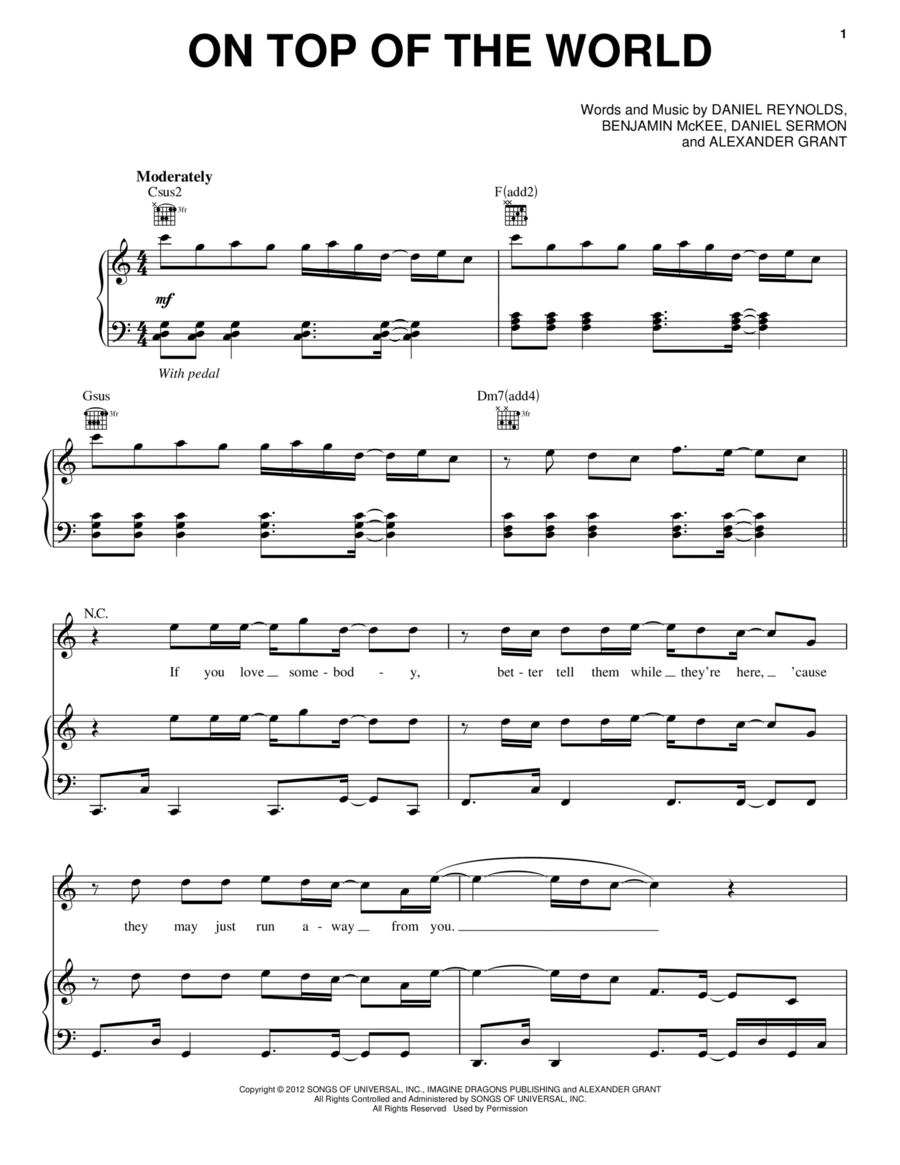 touch the sky brave sheet music pdf