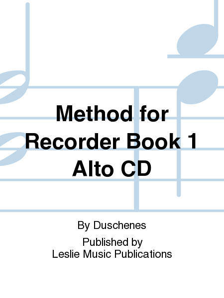 Method for Recorder Book 1 Alto CD