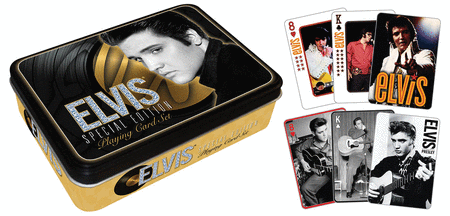 Elvis Presley Playing Card Gift Tin