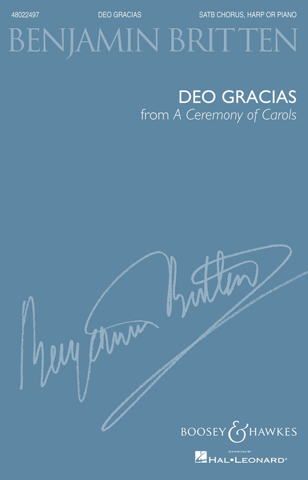Deo Gracias (from A Ceremony of Carols)