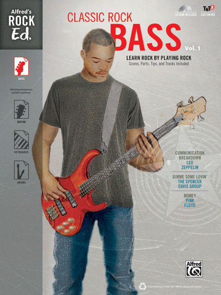 Alfred's Rock Ed. -- Classic Rock Bass, Volume 1