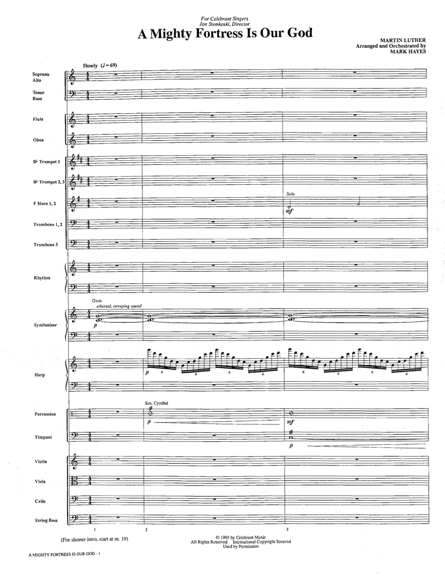 A Mighty Fortress Is Our God - Conductor Score (Full Score)