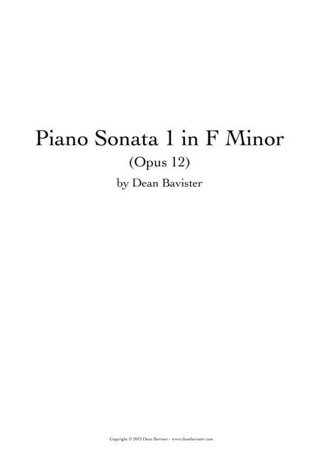 Piano Sonata 1 in F Minor (Opus 12)