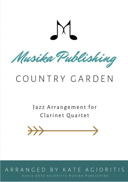 Country Garden - Jazz Arrangement - For Clarinet Quartet