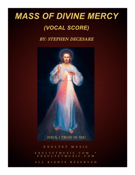 Mass of Divine Mercy (Vocal Score)