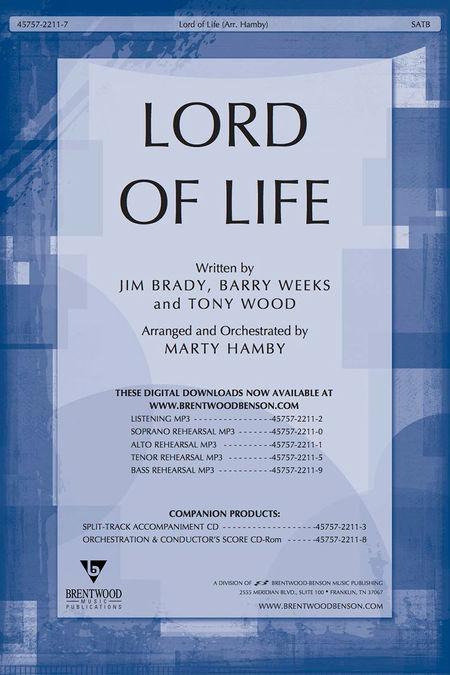 Lord Of Life (Split Track Accompaniment CD)