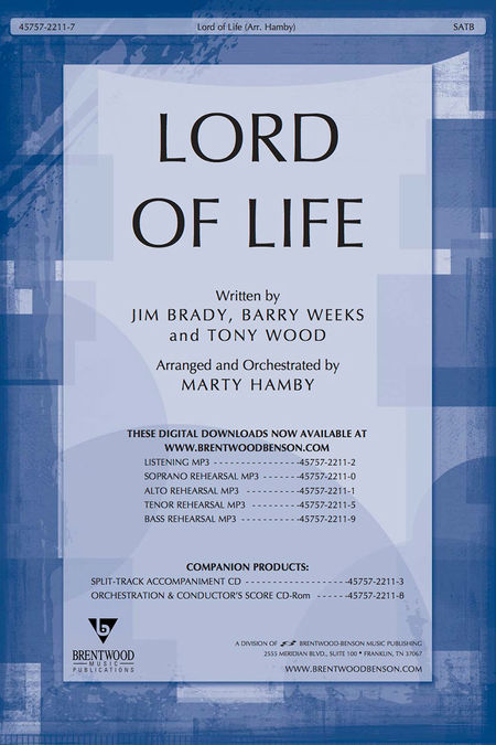 Lord Of Life (Orchestra Parts and Conductor's Score CD-ROM)