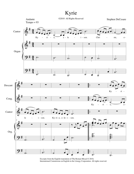 Mass of Saint Michael (Full Score)