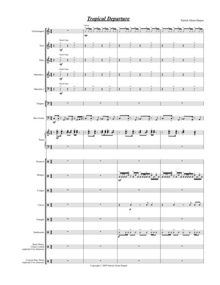 Tropical Departure - For Percussion Ensemble