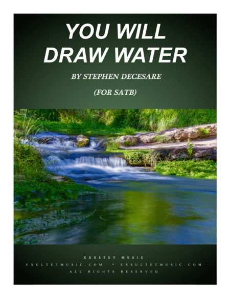 You Will Draw Water