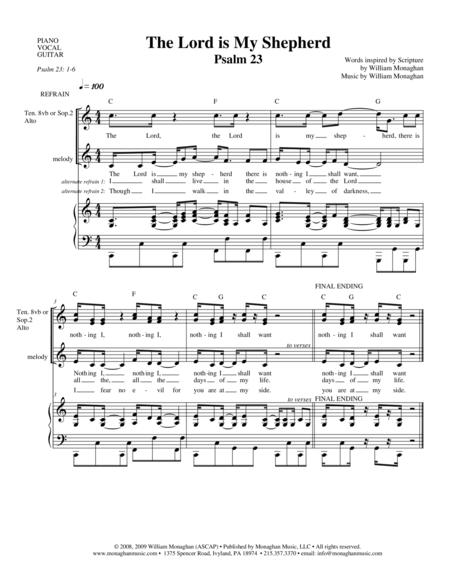 the lord is my shepherd sheet music pdf