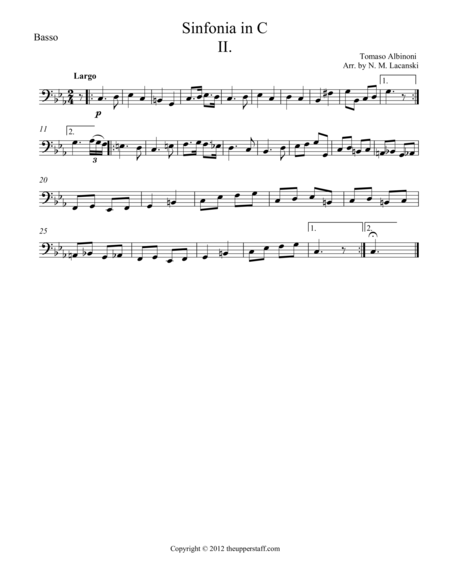 Sinfonia in C Movement II