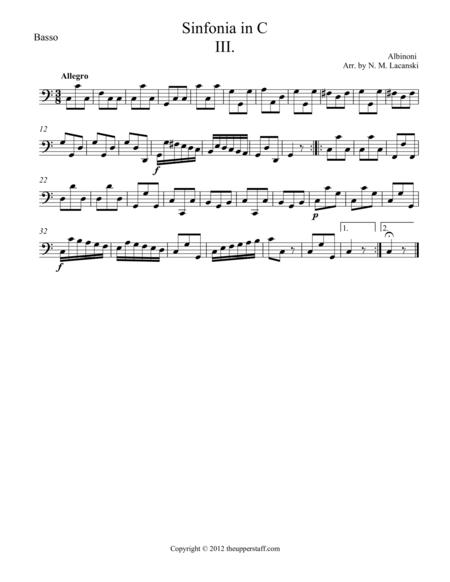 Sinfonia in C Movement III